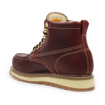 Steel-Toe Dual Density Work Boot // Burgundy (US: 6.5)