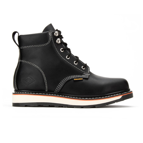 Dual Density Round Toe Work Boot //Black (US: 5)