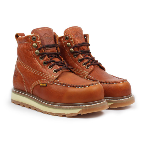 Steel-Toe Dual Density Work Boot // Light Brown (US: 5)