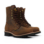 Steel-Toe Logger Boots // Brown (US: 6.5)