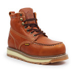 Steel-Toe Dual Density Work Boot // Light Brown (US: 7)