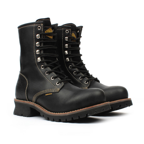 Steel-Toe Logger Boots // Black (US: 5)