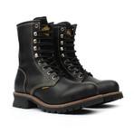 Steel-Toe Logger Boots // Black (US: 7.5)