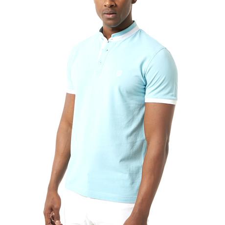 Wade Short-Sleeve Polo // Baby Blue (XS)