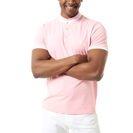 Clark Short-Sleeve Polo // Pink (XS)