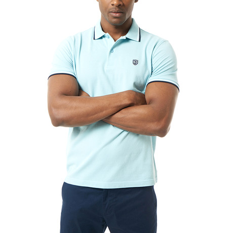 Caleb Short-Sleeve Polo // Baby Blue (XS)
