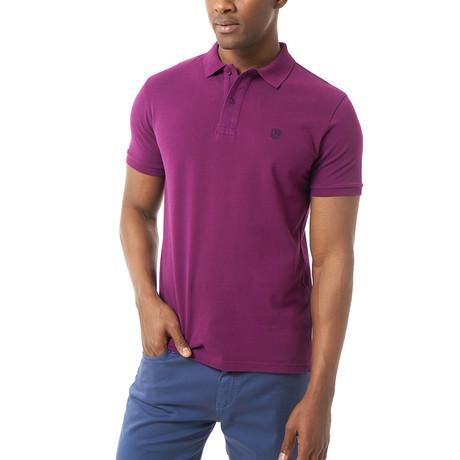 Graham Short-Sleeve Polo // Purple (XS)