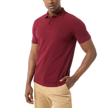 Hector Short-Sleeve Polo // Bordeaux (XS)