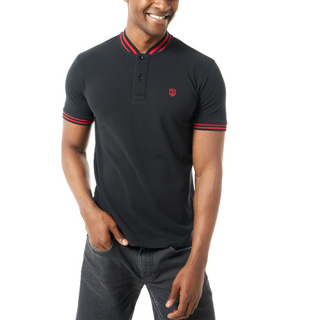 Adriel Short-Sleeve Polo // Black (XS)