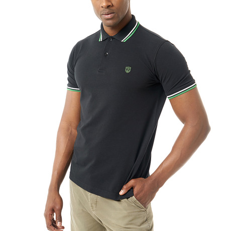 Rhys Short-Sleeve Polo // Black (3XL)