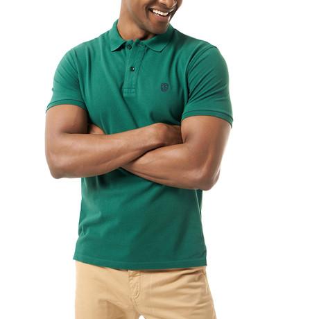 Jordyn Short-Sleeve Polo // Dark Green (XS)