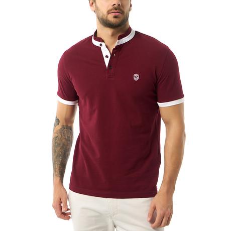 Arturo Short-Sleeve Polo // Bordeaux (XS)