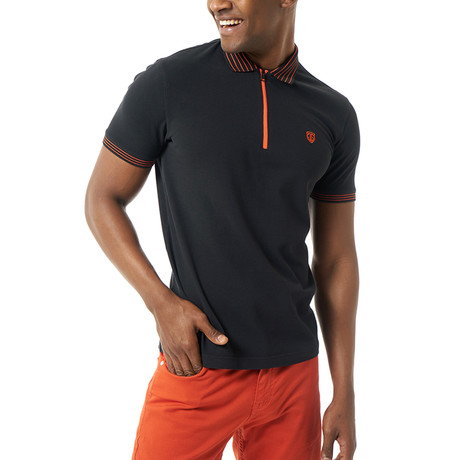 Tristin Short-Sleeve Polo // Black (XS)