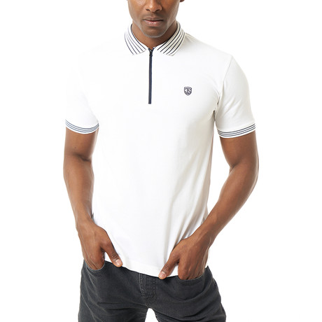 River Short Sleeve Polo // White (S)