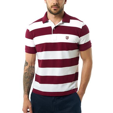 Zachery Short-Sleeve Polo // Bordeaux (XS)