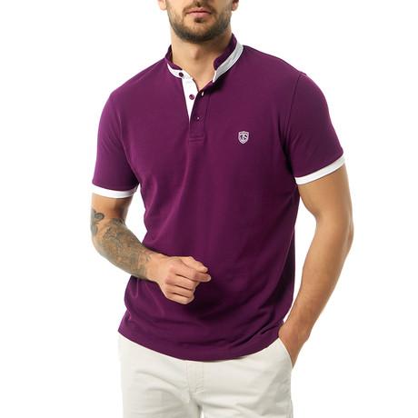 Konner Short-Sleeve Polo // Purple (XS)
