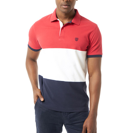 Jeremy Short-Sleeve Polo // Red + White + Blue (XS)