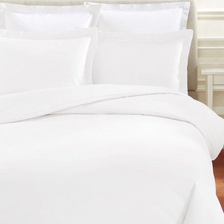 T400 Supima Cotton Duvet Set // White (Full/Queen)