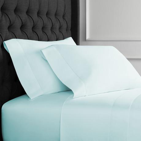 T400 Hems Supima Cotton Sheet Set // Blue (Queen)