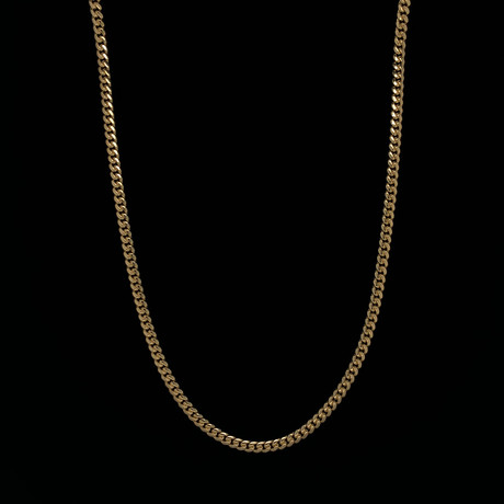 "3.5mm Miami Cuban Chain Necklace // 18K Yellow Gold (20"")"