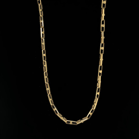 4.5mm Elongated Rolo Chain Necklace // 18K Yellow Gold