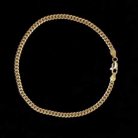 Solid 18K Yellow Gold Miami Cuban Chain Bracelet // 3.5mm
