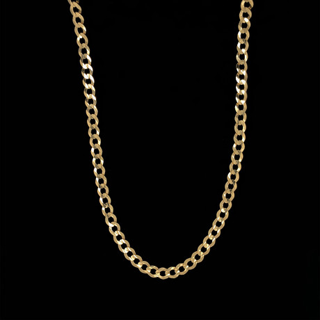 "5.5mm Cuban Chain Necklace // 18K Yellow Gold (22"")"