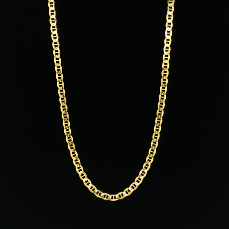"3.5mm Mariner Chain Necklace // 10K Yellow Gold (20"")"