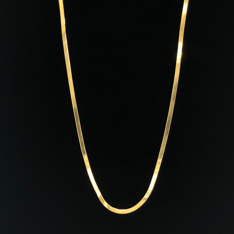"Solid 10K Yellow Gold Magic Herringbone Necklace // 2.5mm (20"")"