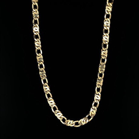 "7mm Figarucci Chain Necklace // 18K Yellow Gold (22"")"