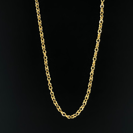 "4mm Hollow Corda Chain Necklace // 10K Yellow Gold (26"")"