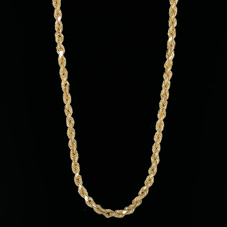 "5mm Hollow Rope Chain Necklace // 18K Yellow Gold (20"")"