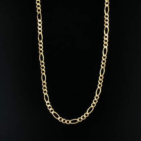 "4.5mm Figaro Chain Necklace // 18K Yellow Gold (20"")"