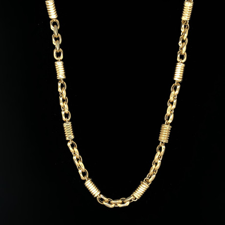 "6mm Bullet Chain Necklace // 18K Yellow Gold (22"")"
