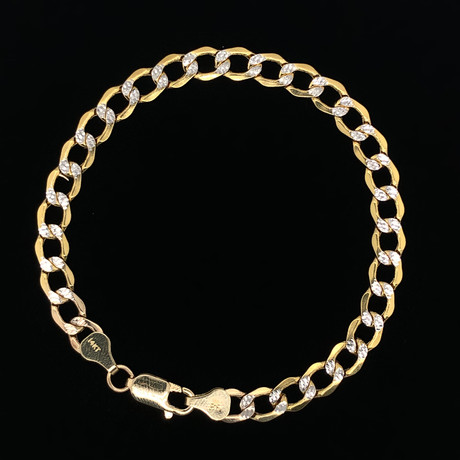 6.5mm Hollow Cuban Chain Necklace // 14K Two-Tone Gold
