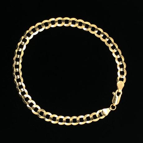 Solid 18K Yellow Gold Cuban Chain Bracelet // 5.5mm