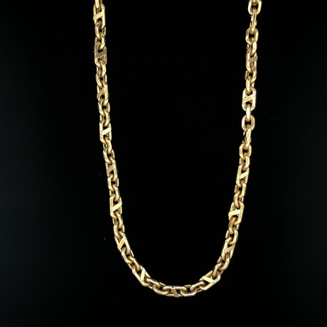 "6.5mm Rolo Byzantine Chain Necklace // 18K Yellow Gold (22"")"