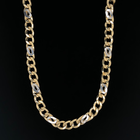 "9.5mm Figaro Larga Chain Necklace // 18K Two-Tone Gold (22"")"