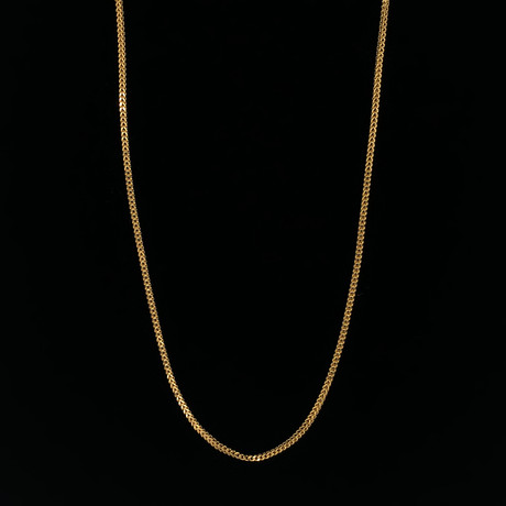 "1.5mm Franco Chain Necklace // 18K Yellow Gold (16"")"