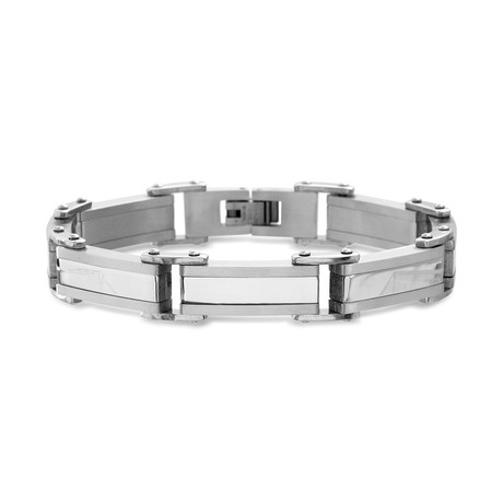 Steel Evolution // Stainless Steel Link Bracelet // Silver