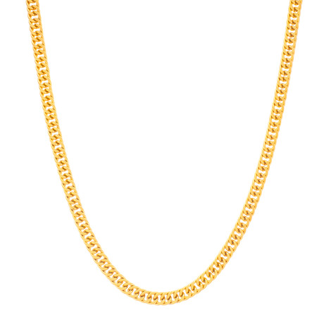Curb Chain Necklace // Yellow Gold Plated