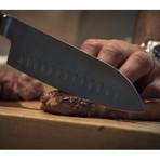 "Kotai Santoku // 7"" Chef Knife // Scalloped Blade"