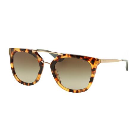 0dafbad69b9e Prada // Women's Semi-Oval Sunglasses // Havana + Green