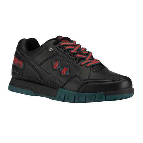 Metros Sneaker // Black + Emerald Green + T.Red (US: 7)