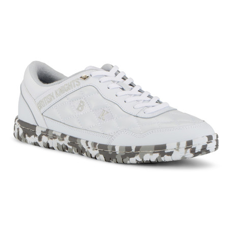 Quilts Sneaker // White + Camo (US: 7)