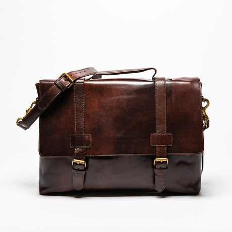 Urban Leather Messenger Bag // Antique Brown