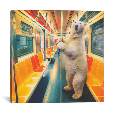 "Polar Express Subway // Soaring Anchor Designs (18""W x 18""H x 0.75""D)"