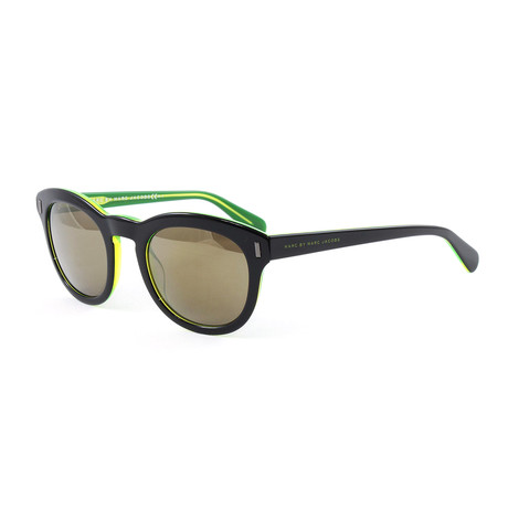 Men's J433S Sunglasses // Black + Green
