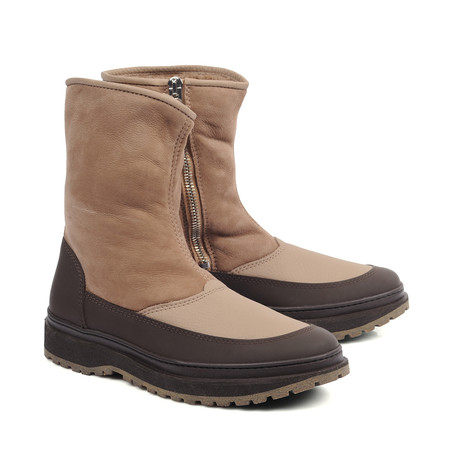Mattia Contrast Boots // Brown (Euro: 39)