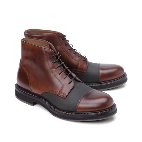 Leather Lace-Up Boot // Brown (Euro: 39)
